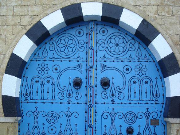 Photo porte bleue sibi bou sa d tunisie tunisie - La porte bleue belgique ...